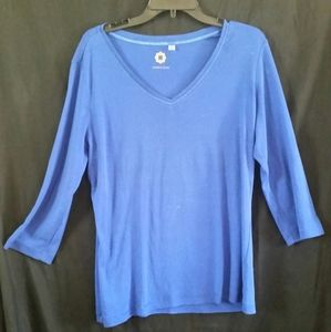 Amber Sun Blue Long Sleeve Shirt XL